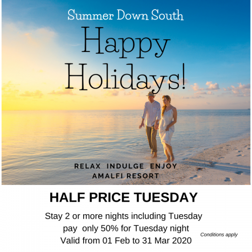Summer Special - HALF PRICE TUESDAY